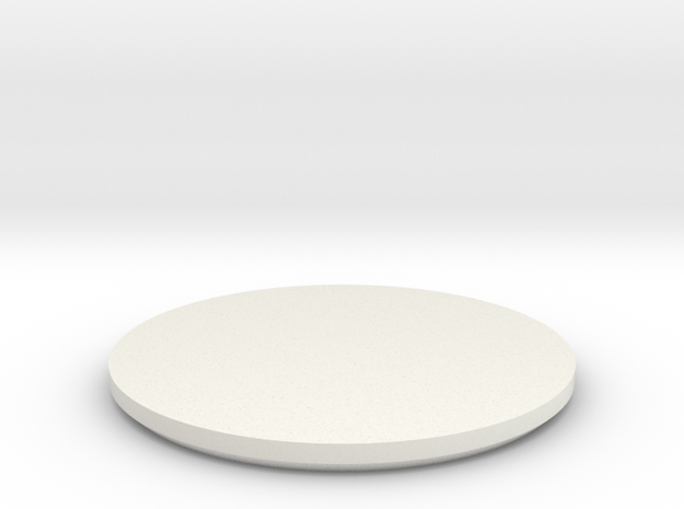 DISC3-WI-2B-F7 in White Natural Versatile Plastic