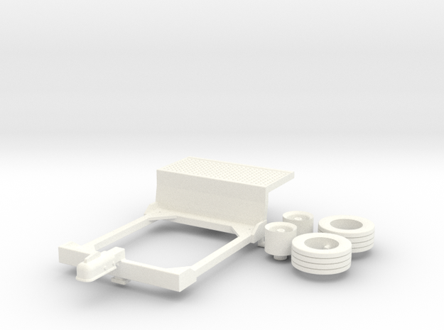 1:32 Ernteanhänger für Kleintraktor in White Processed Versatile Plastic