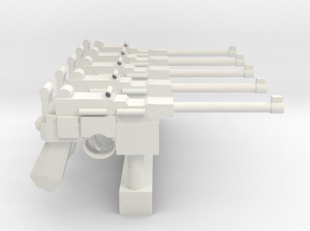 MauserC96 SET5 in White Natural Versatile Plastic