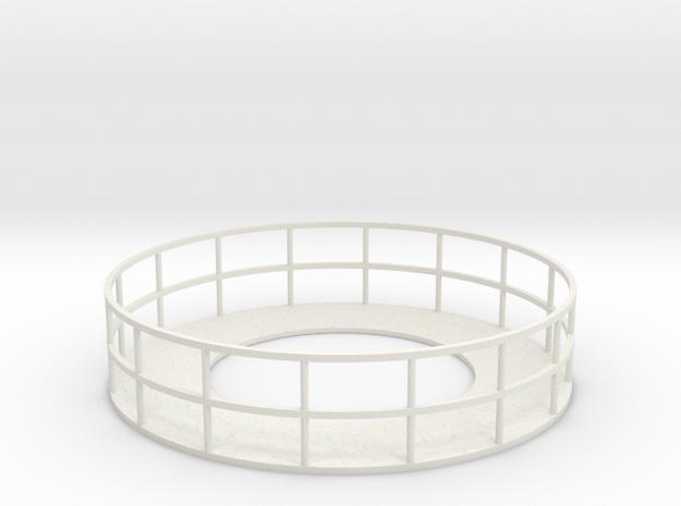Walkway 2 - HOscale in White Natural Versatile Plastic