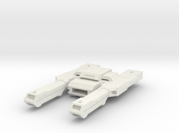 Wing Commader  Durango Class Destroyer Carrier in White Natural Versatile Plastic