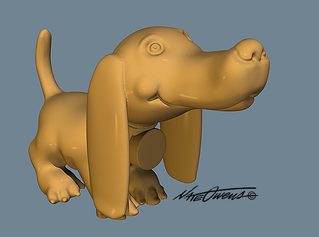 Doxie: Cute Pup in Natural Sandstone