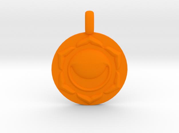 SACRAL SWADHISTANA Chakra Symbol Pendant in Orange Strong & Flexible Polished