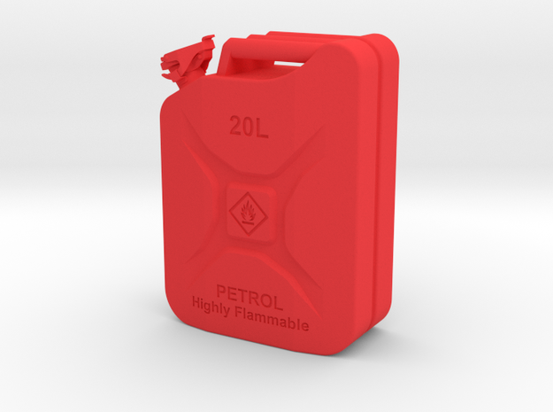 Jerry Can Petrol HD 1\10 in Red Processed Versatile Plastic: 1:10
