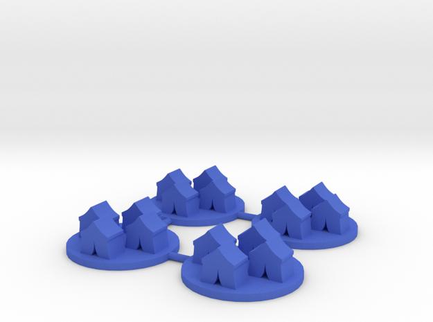 Field Camp Token, 4-set in Blue Processed Versatile Plastic