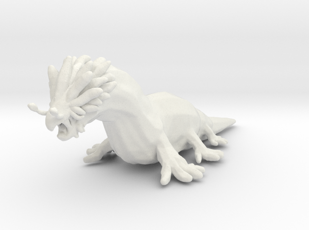 Giant Slug DnD miniature games rpg swamp monster in White Natural Versatile Plastic