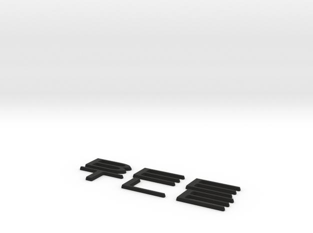 BeetleLogo - RitteK in Black Natural Versatile Plastic