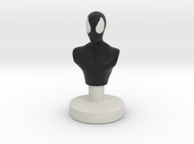 Spider Man (Black Suit) in Natural Full Color Sandstone