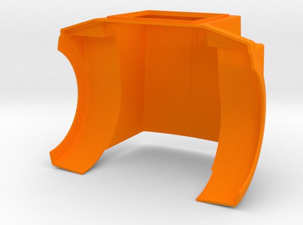 KW T800H Style Hood for King/Grand Hauler Cab in Orange Processed Versatile Plastic