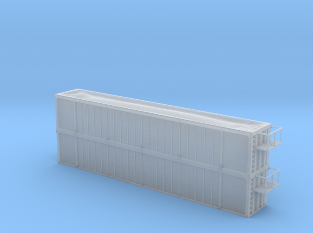 Trash Gondola Double Stack 53foot - Nscale in Smooth Fine Detail Plastic