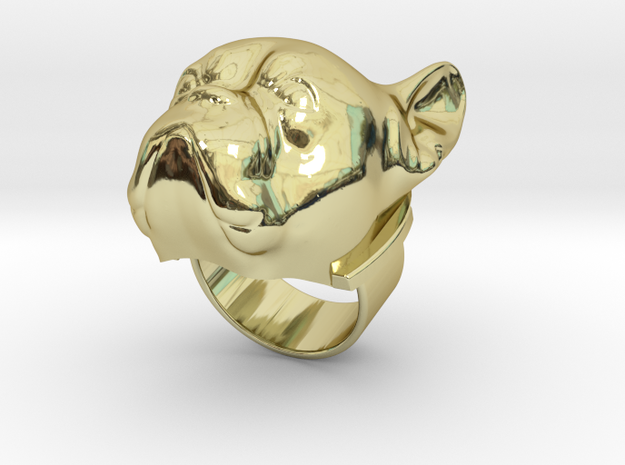 French Bully ring in 18k Gold Plated Brass