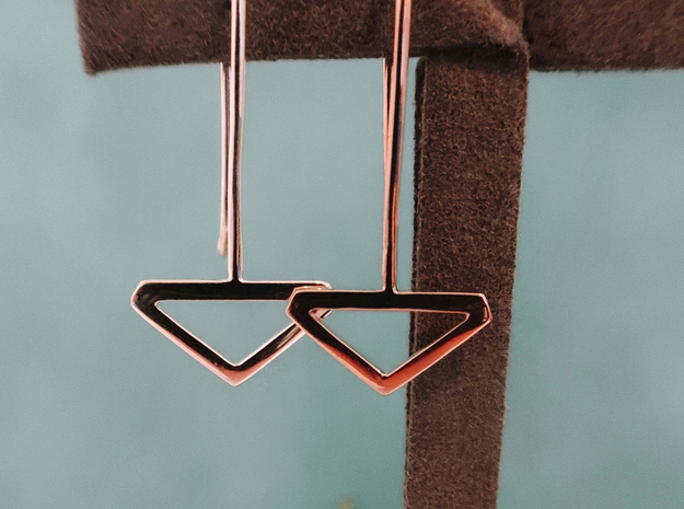 Triangle Earring Set in Polished Silver