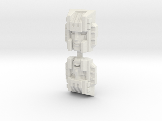 Chainclaw Face (Titans Return/PotP) in White Natural Versatile Plastic