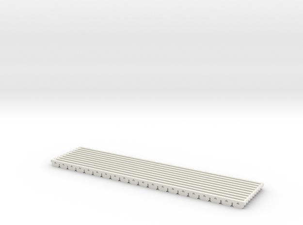 planche de rive SNCV HO avec trous 79.5 mm  10 pie in White Natural Versatile Plastic: 1:87 - HO