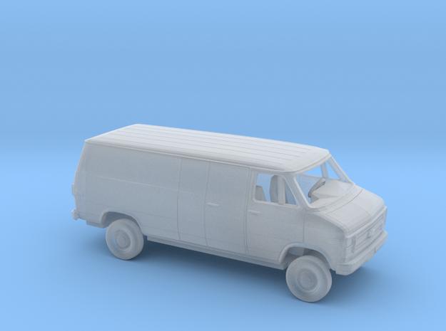 1/87 1984 Chevrolet G Van Long Wheelbase Enclosed  in Smooth Fine Detail Plastic