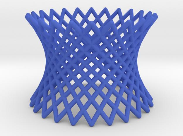 Hyperboloid in Blue Processed Versatile Plastic