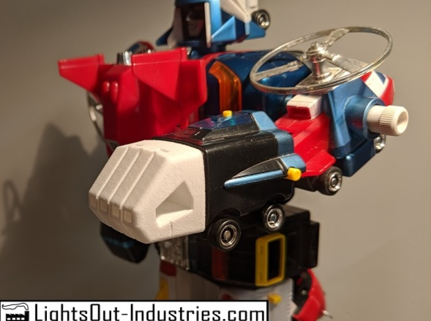 Replacement Fist for Vehicle Force Voltron in White Natural Versatile Plastic