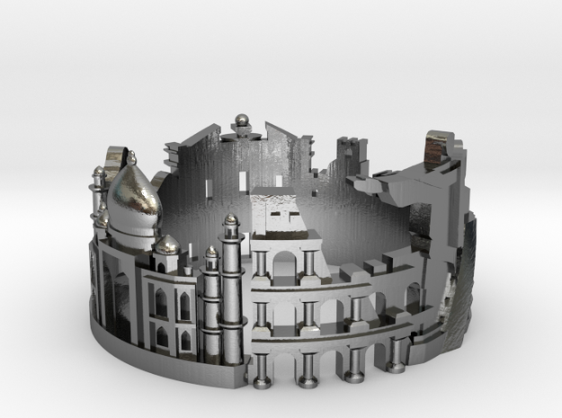 7 wonders - Skyline Cityscape Ring in Polished Silver: 7 / 54