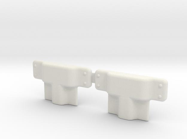 EC135 Door Hardware 1/6 in White Natural Versatile Plastic