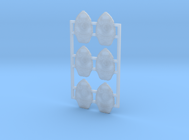 1:6 wcpd badge set in Smooth Fine Detail Plastic