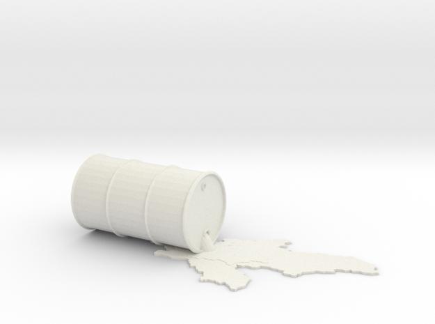 oil_drum_spill in White Natural Versatile Plastic
