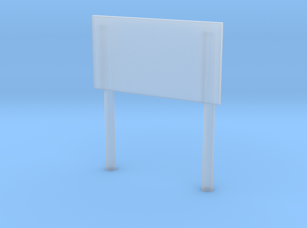'1-50 Scale' - Sign with Posts in Smooth Fine Detail Plastic