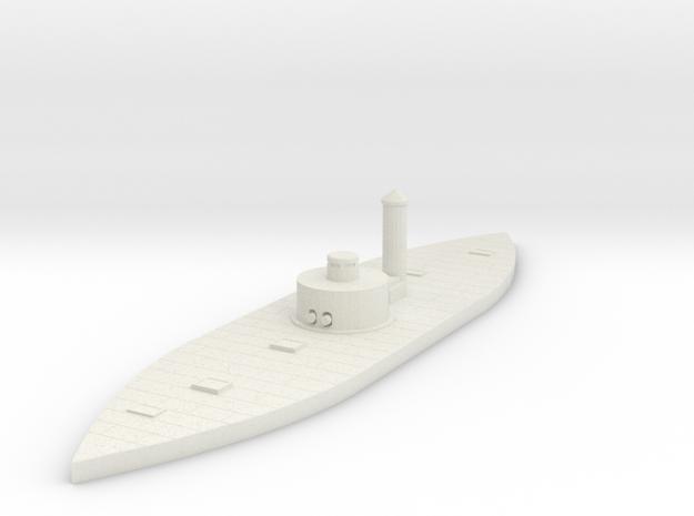 1/600 Passaic Class Monitor in White Natural Versatile Plastic