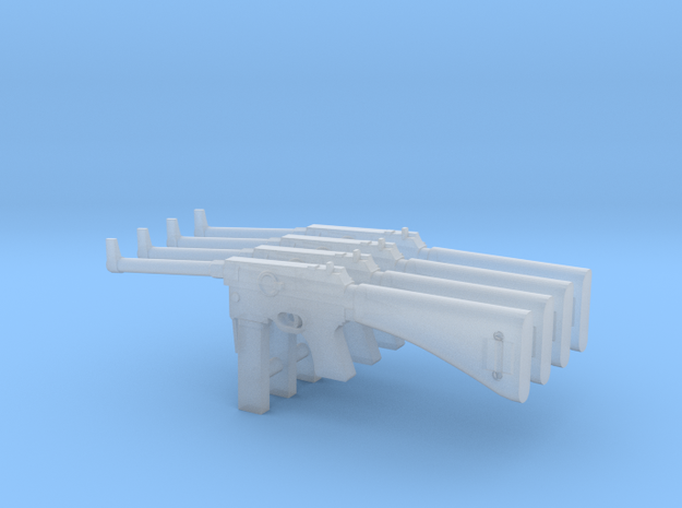 1:16 MAS-38 French SMG x4 in Smooth Fine Detail Plastic