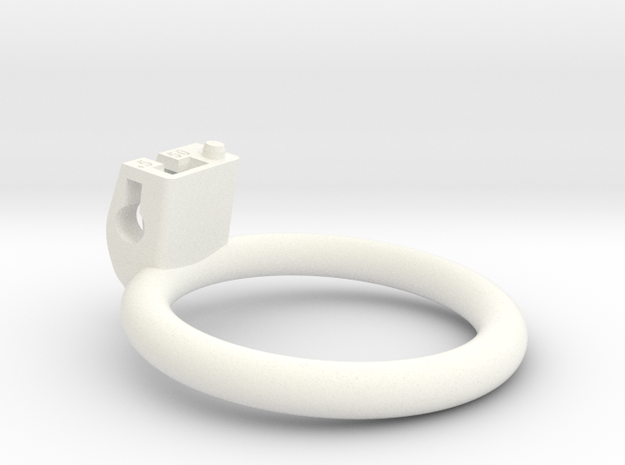 Cherry Keeper Ring - 50mm Flat +5° in White Processed Versatile Plastic