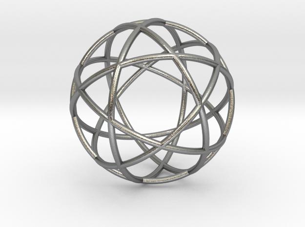 "Penta Sphere pendant, .6"" diam. in Natural Silver"
