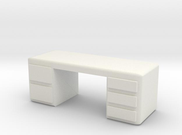 Office Desk 1/43 in White Natural Versatile Plastic
