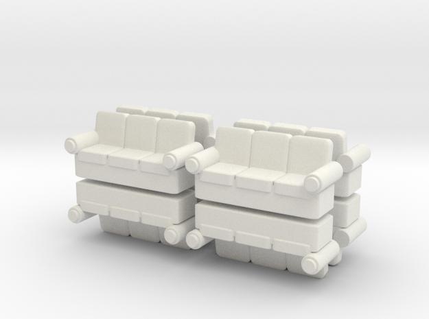Sofa (x8) 1/200 in White Natural Versatile Plastic