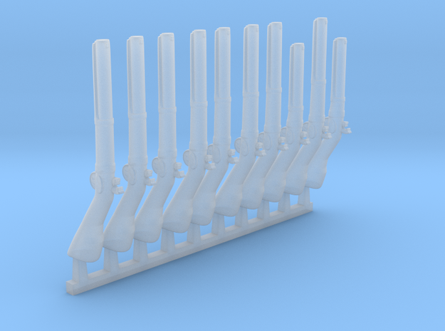 10 x Baker Rifle  in Smooth Fine Detail Plastic