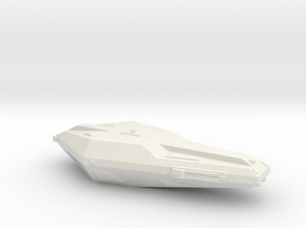 3788 Scale Hydran Voltiguer Local Defense Frigate in White Natural Versatile Plastic