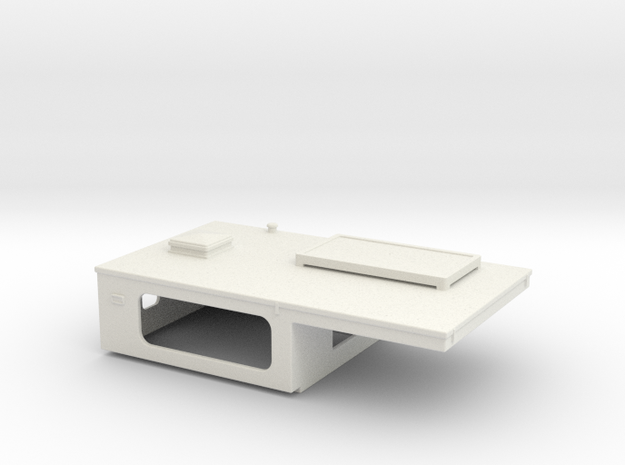 SCX24 Truck camper for Toyota truck in White Natural Versatile Plastic