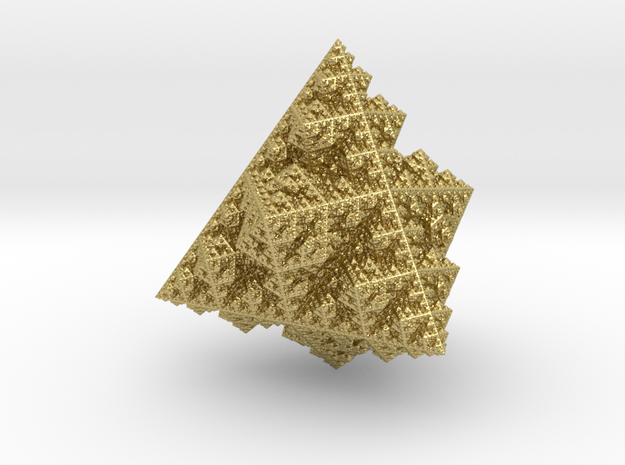 fractal ornament 0.4  (6.99 x 7 x 7.42 cm) in Natural Brass
