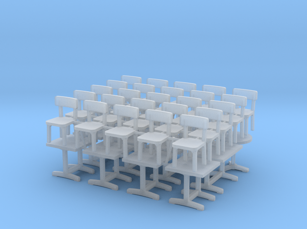 1:87 Tables (x12) & Chaises (x25) in Smooth Fine Detail Plastic