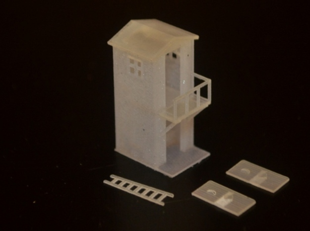 N-Scale 2-Storey Outhouse