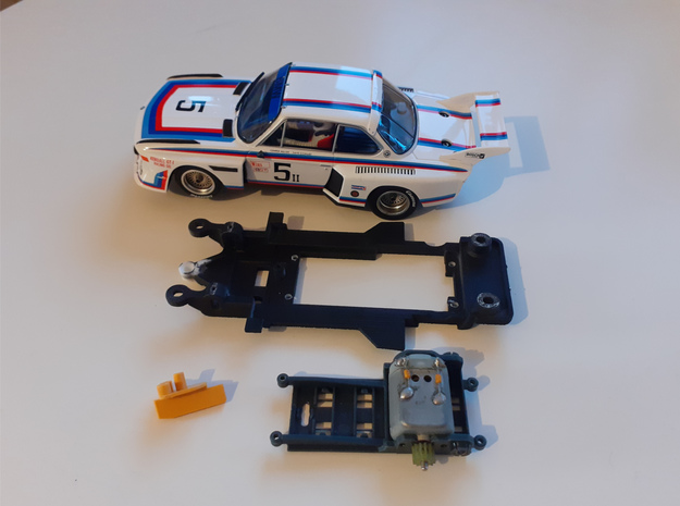 1/32 Carrera 3.5 CSL Chassis slot.it motor pod in White Natural Versatile Plastic