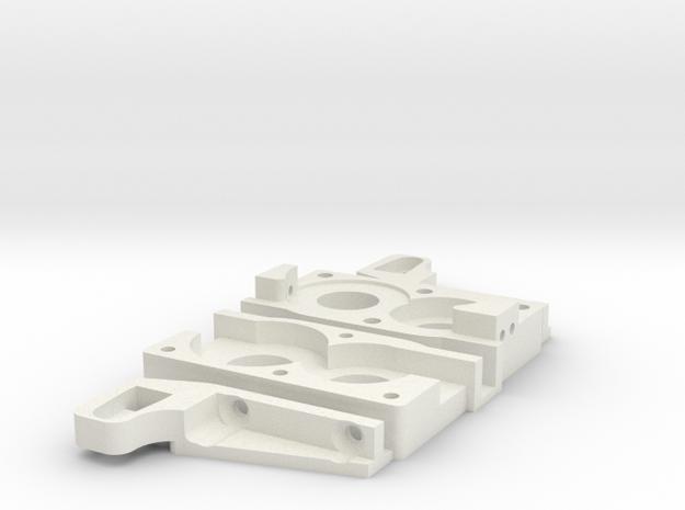 Gelande 2 Front motor and transfer case kit in White Natural Versatile Plastic