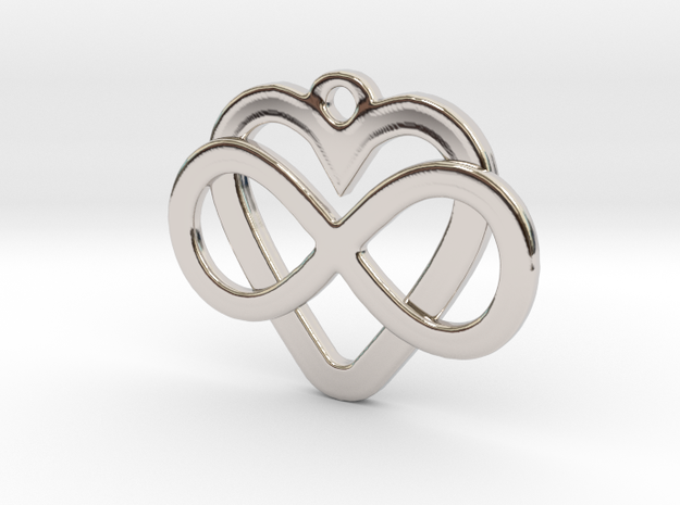 Infinity Heart Pendant 3d printed