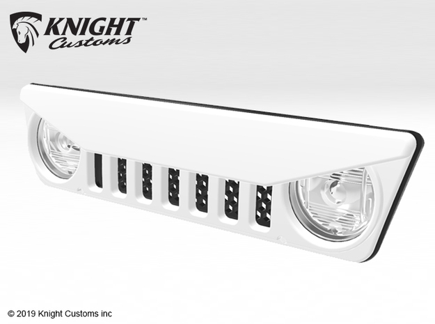AC005 Axial Capra ANGRY Grill in White Processed Versatile Plastic