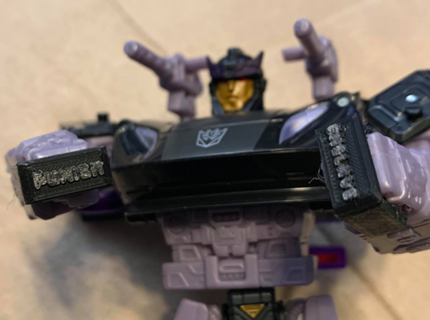 Transformers Barricade Knuckles Punish and Enslave in Smooth Fine Detail Plastic