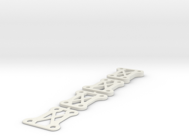 SCX10 Transmission Lift Spacers 1mm 2mm 3mm 4mm in White Natural Versatile Plastic