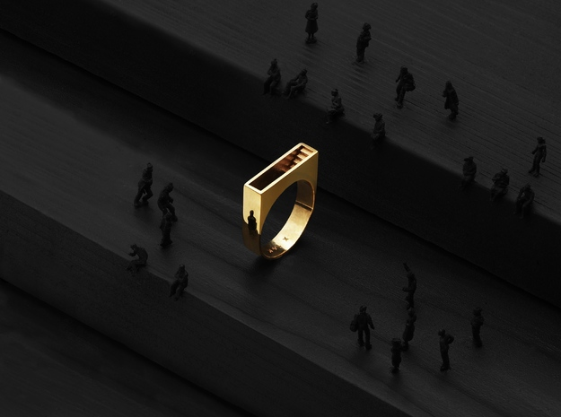 Stair Ring (Gold)