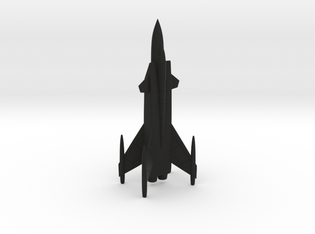 Sukhoi Shkval Tailsitter VTOL Fighter in Black Natural Versatile Plastic: 1:200