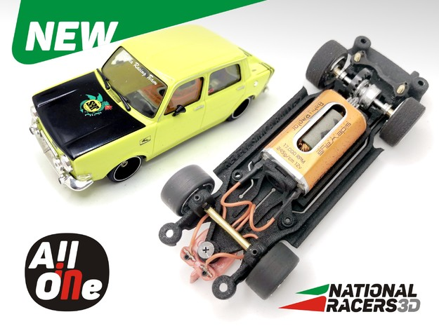Chassis Revell SIMCA 1000 Rallye 2 (Narrow-In-AiO) in Black PA12