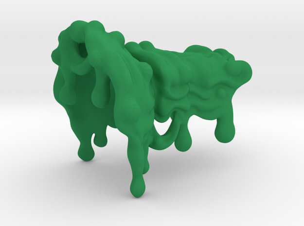 Spotlight Slime V1 with bubbles in Green Processed Versatile Plastic
