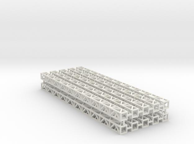 Zirkuszeltmast 100mm 10erSet - 1:120 - TT in White Natural Versatile Plastic