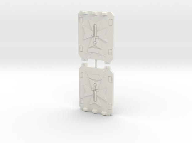 Sword Templar Light Vehicle Doors Veteran Style in White Natural Versatile Plastic